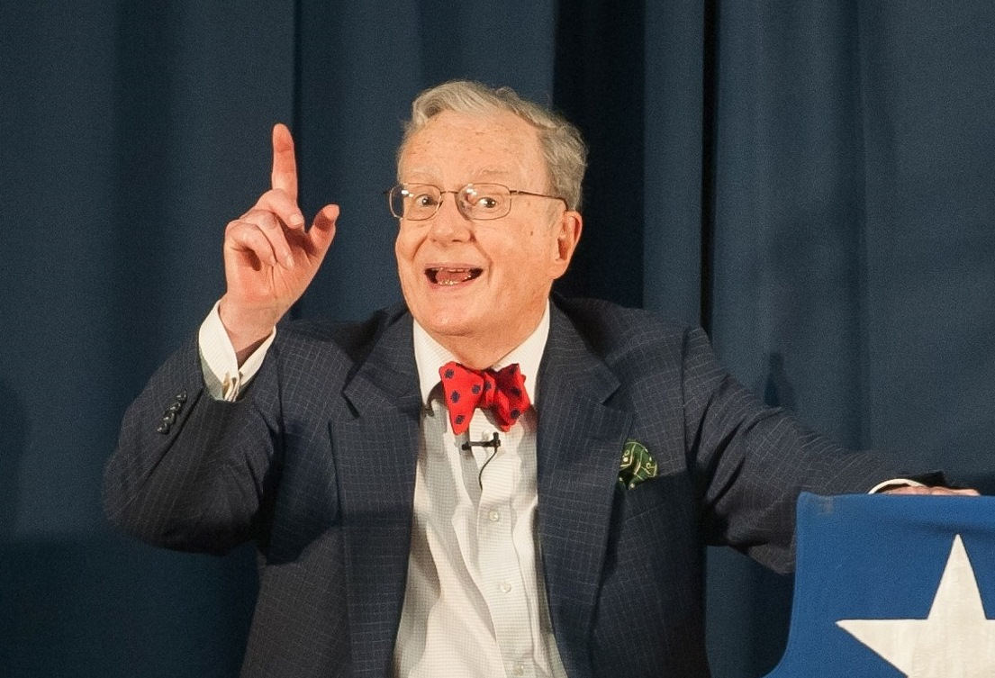 Political satirist Mark Russell will give his 'Midterm Report' in a benefit for the Robert H. Jackson Center.