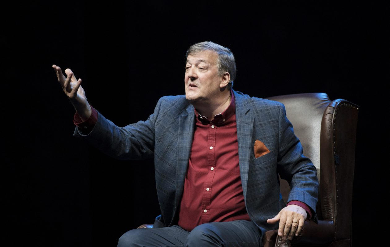 Stephen Fry stars in 'Mythos: Gods. Heroes. Men,' running through July 15 at the Shaw Festival in Niagara-on-the-Lake, Ont. (Photo by David Cooper)