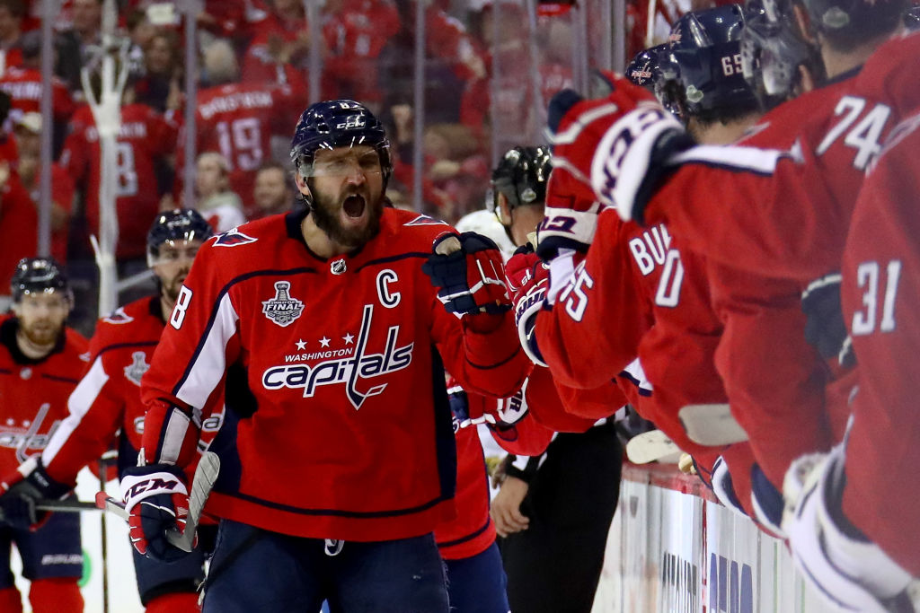 Alex Ovechkin was pumped after one of his team's six goals in Game 4 (Getty Images).