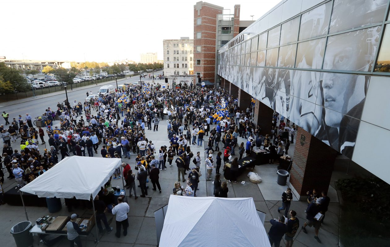 Alumni Plaza will be the site of the NHL Draft viewing party. (Mark Mulville/News file photo)