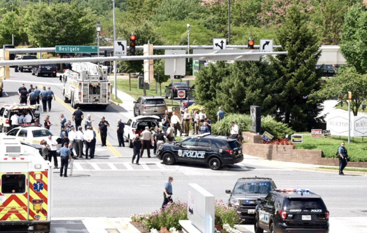 Police respond to a shooting at Capital Gazette newspaper in Annapolis, Md. (Joshua McKerrow/Capital Gazette/TNS)