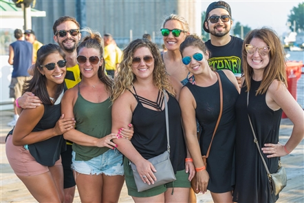 Smiles at Umphrey's McGee at Canalside Live