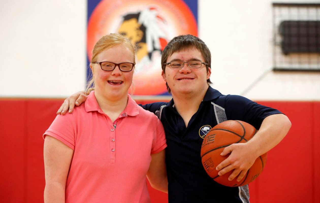 Iroquois High School students Sydney Hanley and Alex O'Donnell. (Mark Mulville/News file photo)