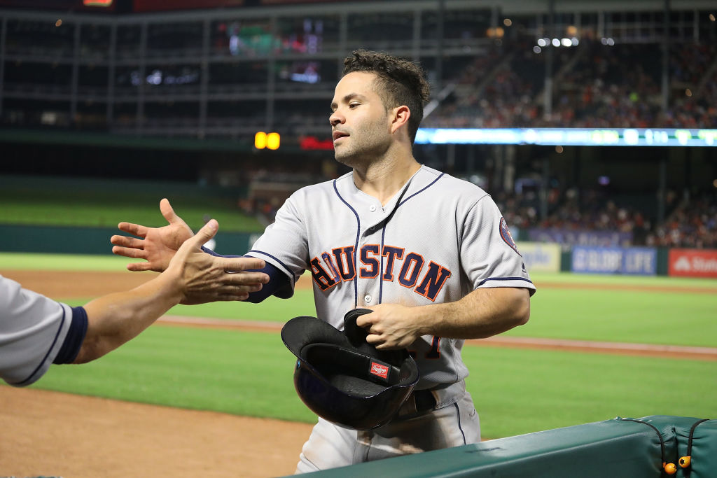 The Astros have been giving it up on the road to Jose Altuve all season (Getty Images).