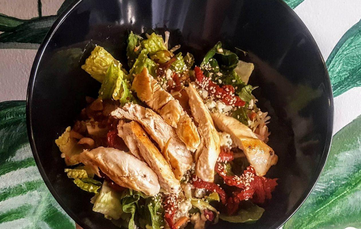 Bedrock's Romaine Empire salad, with grilled chicken. (Bedrock)
