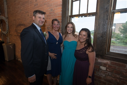 Smiles at Buffalo Beer Prom in the Barrel Factory