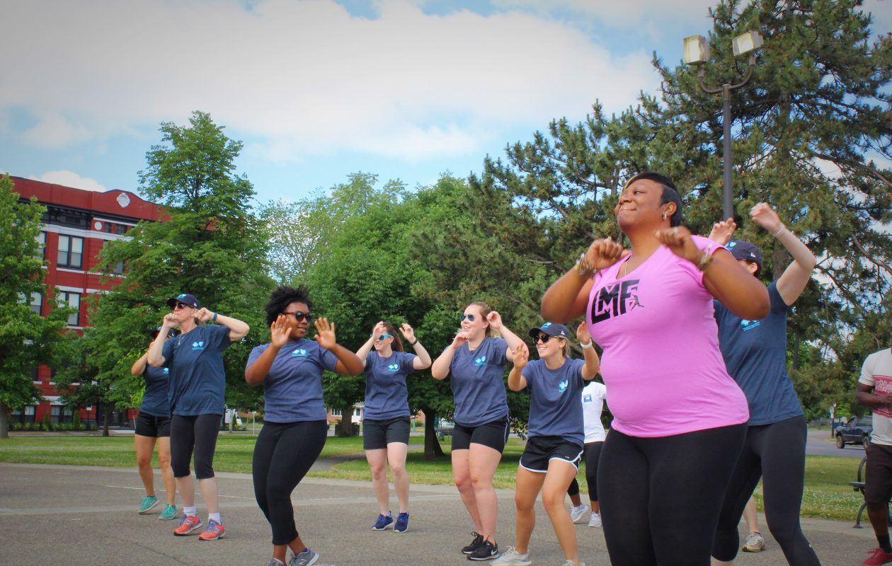 A dance fitness class like this one at Martin Luther King Jr. Park heats up the third season of Summer City Fitness at the park. (Photo provided by the City of Buffalo)