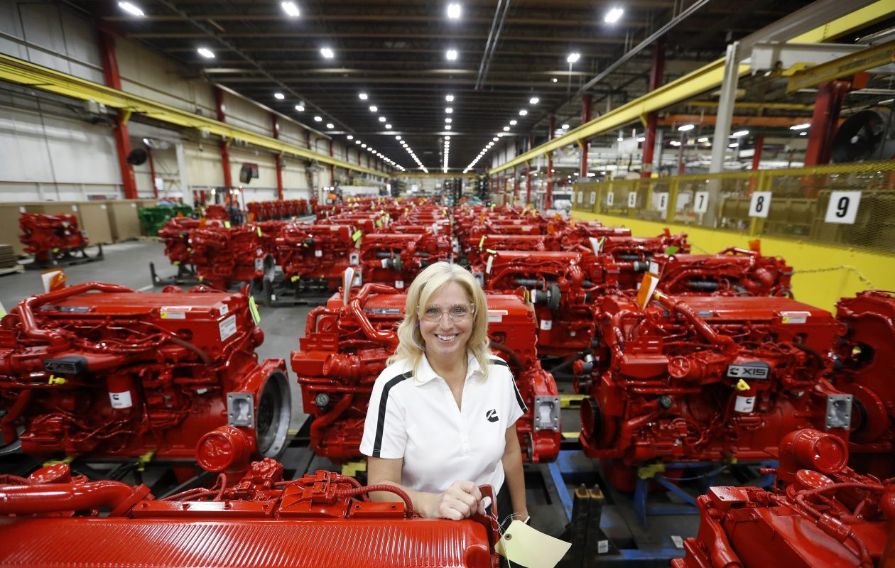 Anna Dibble has built a career at Cummins' Jamestown engine plant., moving up through various positions to plant manager. (Mark Mulville/Buffalo News)