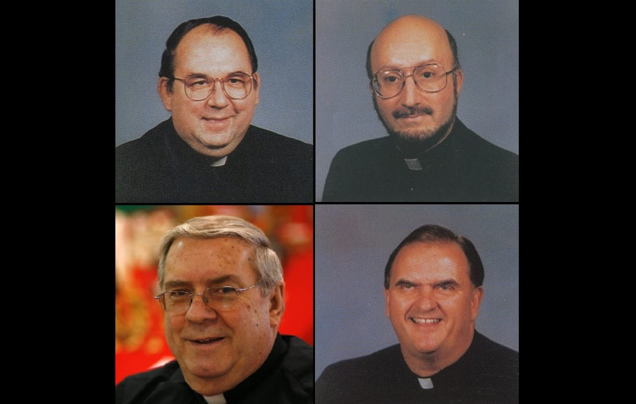 Clockwise from top left: The Rev. Robert Stolinski, the Rev. Pascal Ipolito, the Rev. Daniel Palys and the Rev. Roy Herberger. (Photos courtesy of the Diocese of Buffalo's 1995 Priests' Pictorial Directory and News file photo)
