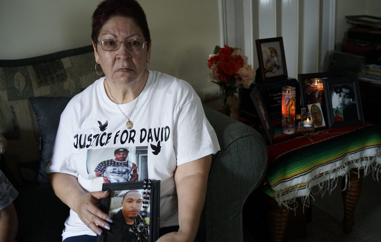 Gloria Lopez, of Lackawanna, continues to grieve the loss of her son, David A. Lopez, 28, who was fatally shot June 9 outside the Bowl-Inn bowling alley on Bailey Avenue in Buffalo. (Derek Gee/Buffalo News)
