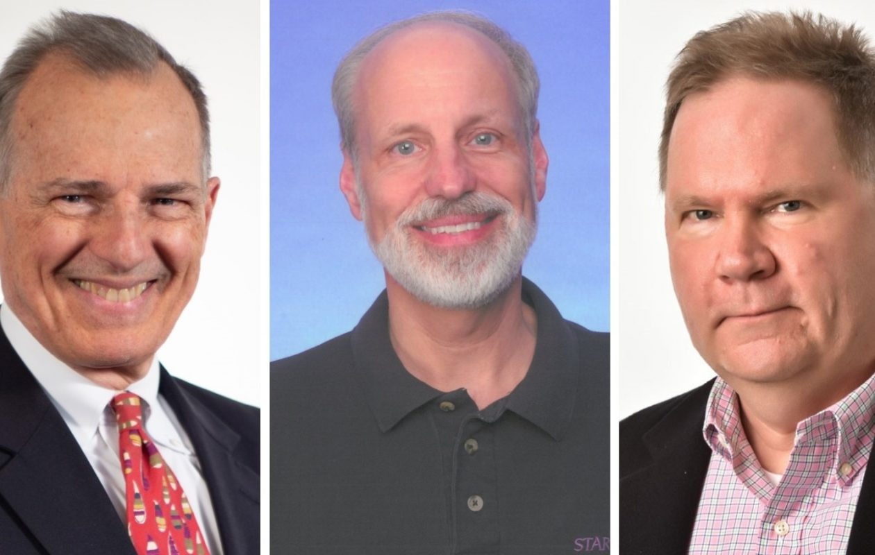 John Beard, Roger Christian and John Hager are entering the Buffalo Broadcasters Hall of Fame. (Photos provided by Buffalo Broadcasters Hall of Fame)