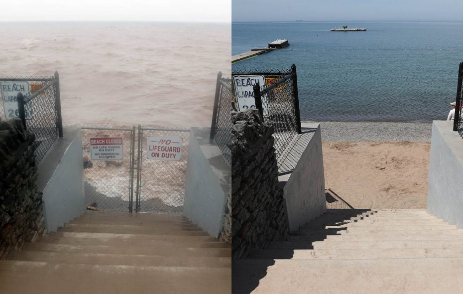 Then and Now: Lake Ontario water levels from 2017 to 2018