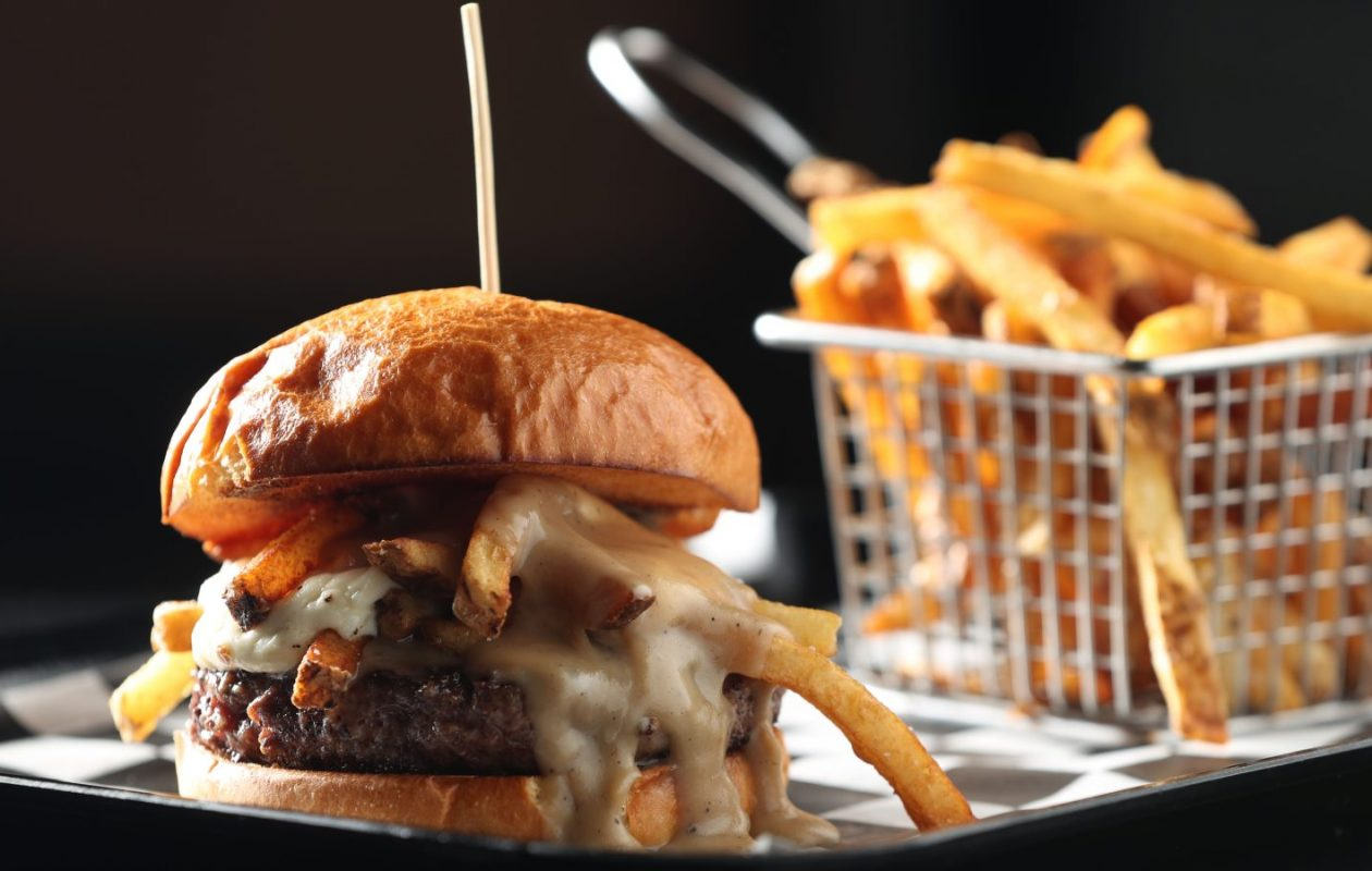 Something akin to Juicy Burger Bar's poutine burger is not likely to be on the menu at IHOb. (Sharon Cantillon/Buffalo News)