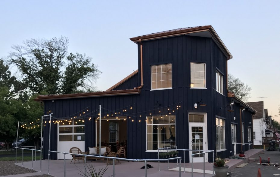 Things are looking brighter for the former automobile repair shop on the banks of the Erie Canal. (Prescott's Provisions)