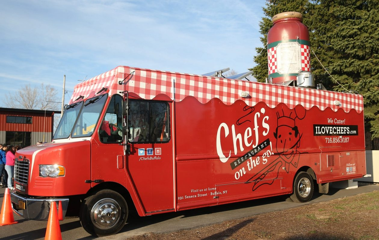 Chef's on the Go food truck was damaged by fire on Wednesday, July 26, 2018. (Sharon Cantillon/Buffalo News)