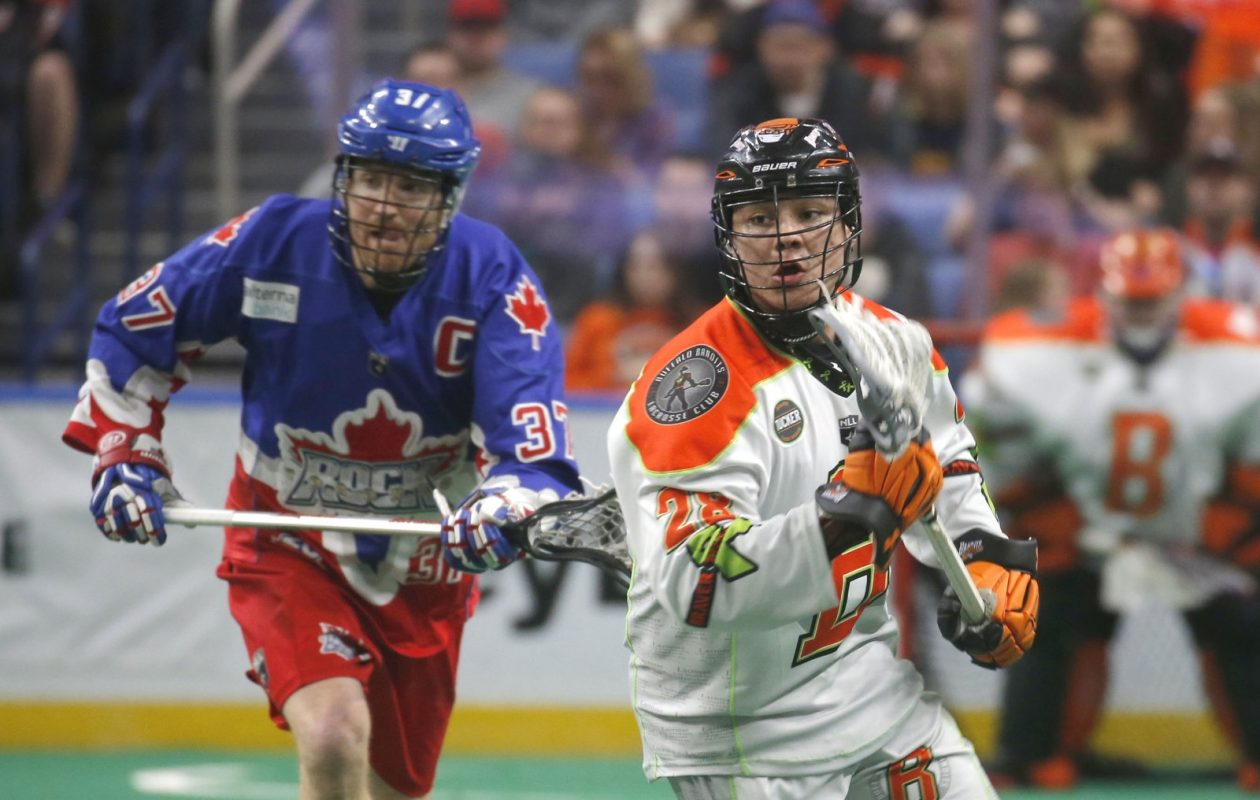Buffalo's Vaughn Harris escapes from Toronto's Brodie Merrill.(Robert Kirkham/Buffalo News)