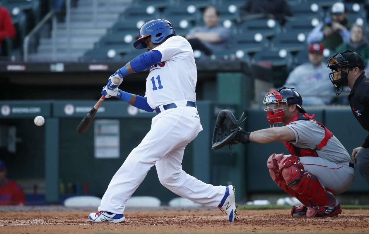 Gift Ngoepe has struggled at the plate for the Bisons. (Harry Scull Jr./ Buffalo News)