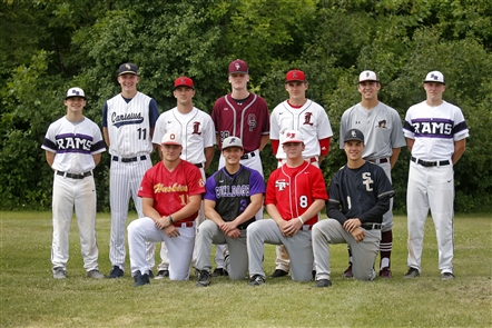 Here are the members of the 2018 All-Western New York Coaches baseball first team. Not pictured: Charlie Mack from Williamsville East.