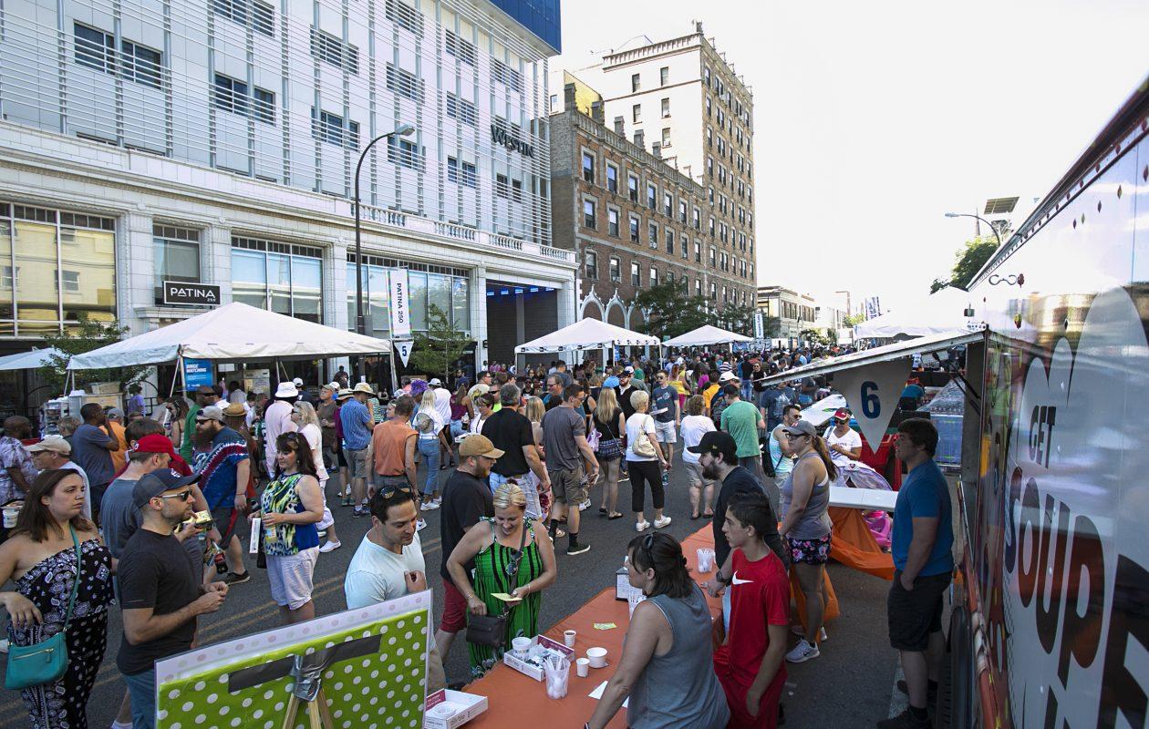 Crowds enjoy food from 53 restaurants at the Taste of Buffalo on Saturday, July 7, 2018. (Shuran Huang/Buffalo News)