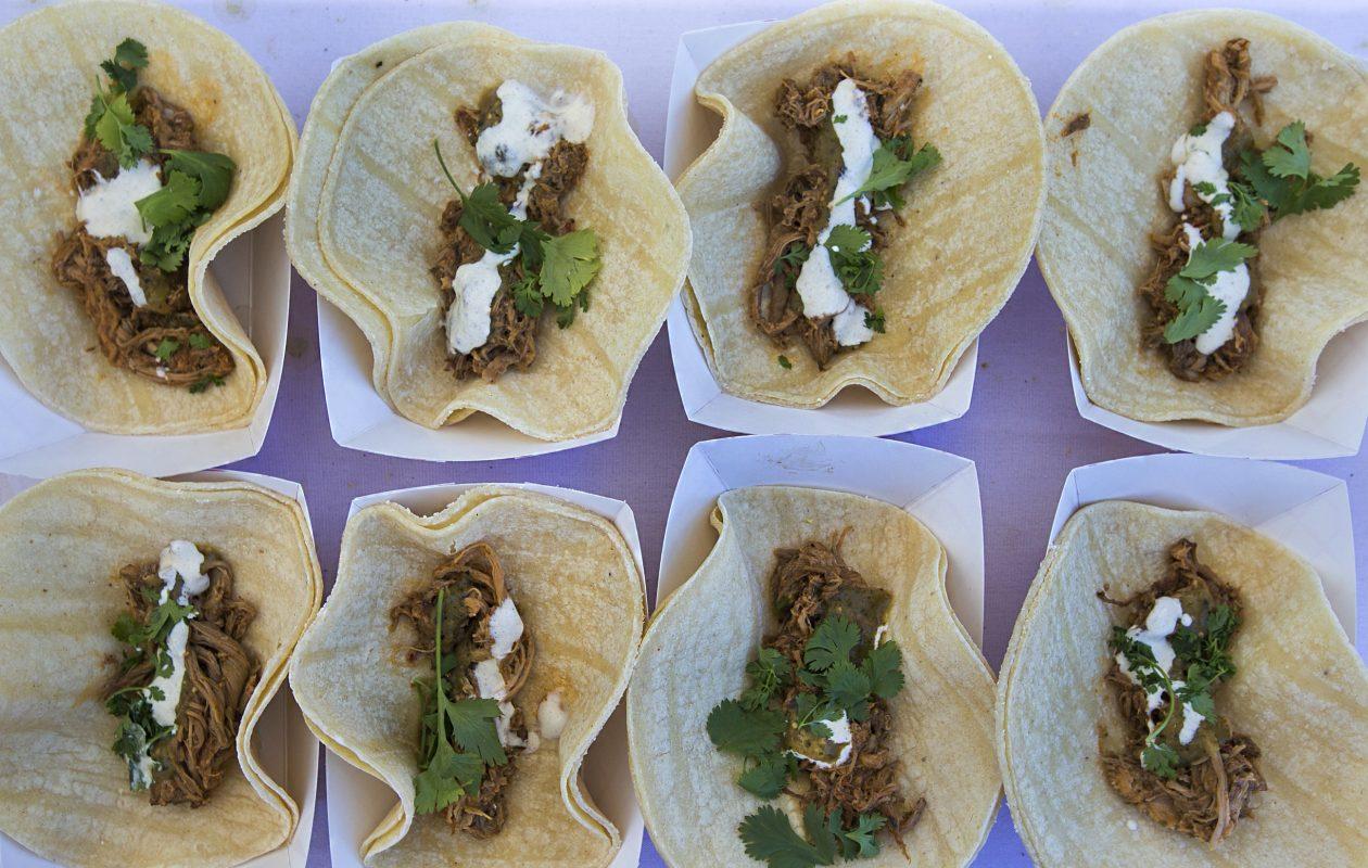 Guajillo tacos from SEAR are Andrew Galareau's favorite items at Taste of Buffalo this year. (Shuran Huang/Buffalo News)