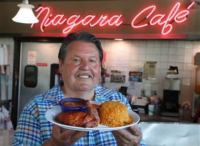 Niagara Cafe has been open for 25 years at 525 Niagara St.