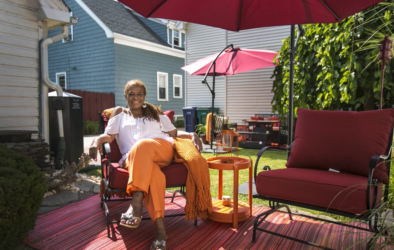 The first East Side Garden Walk on Saturday will include Constance Strother's tropical-themed garden. (Shuran Huang/Buffalo News)