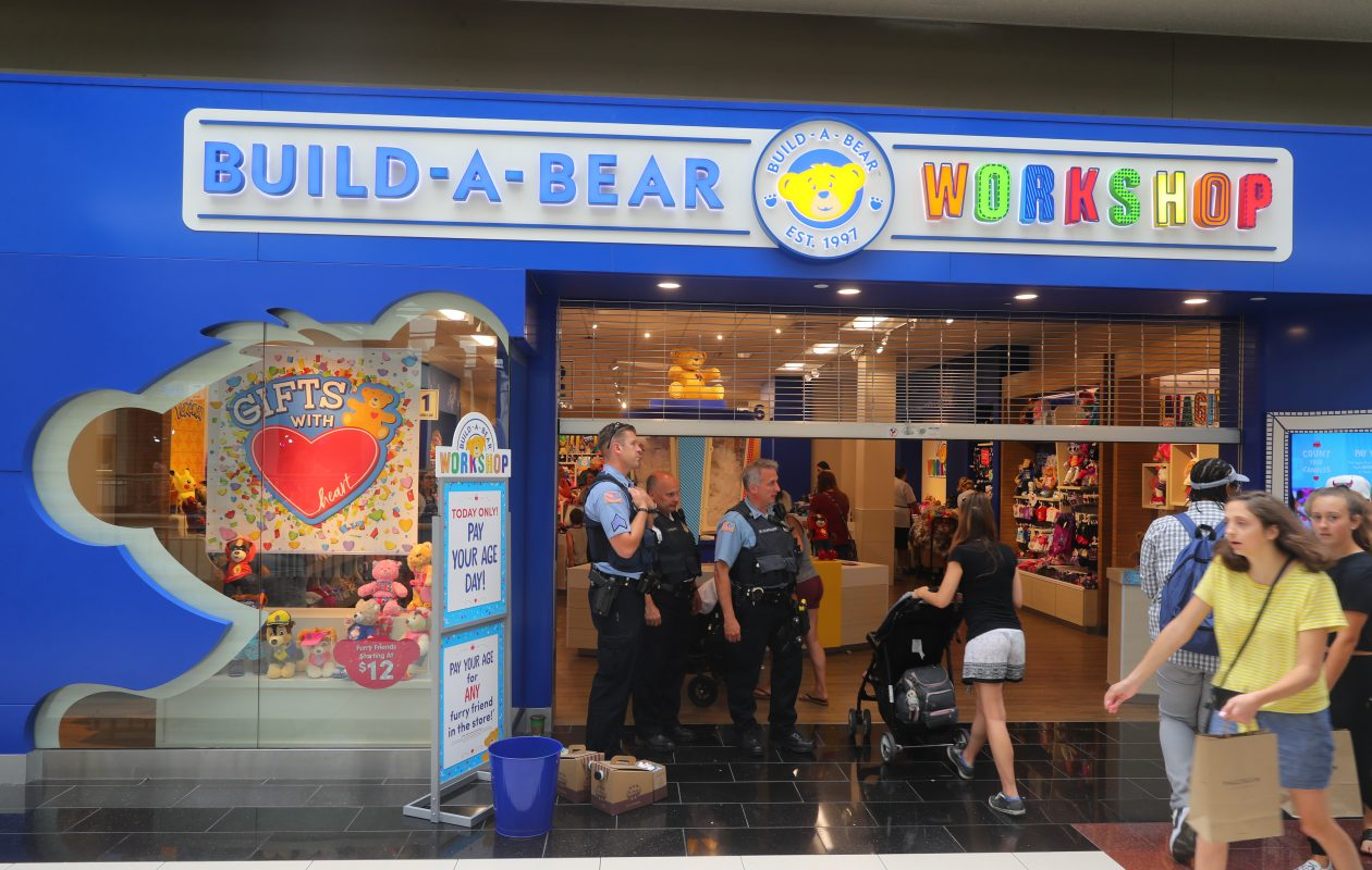 Long lines at Build-a- Bear at the Walden Galleria, where a 'pay your age' promotion went horribly awry. (John Hickey/Buffalo News)