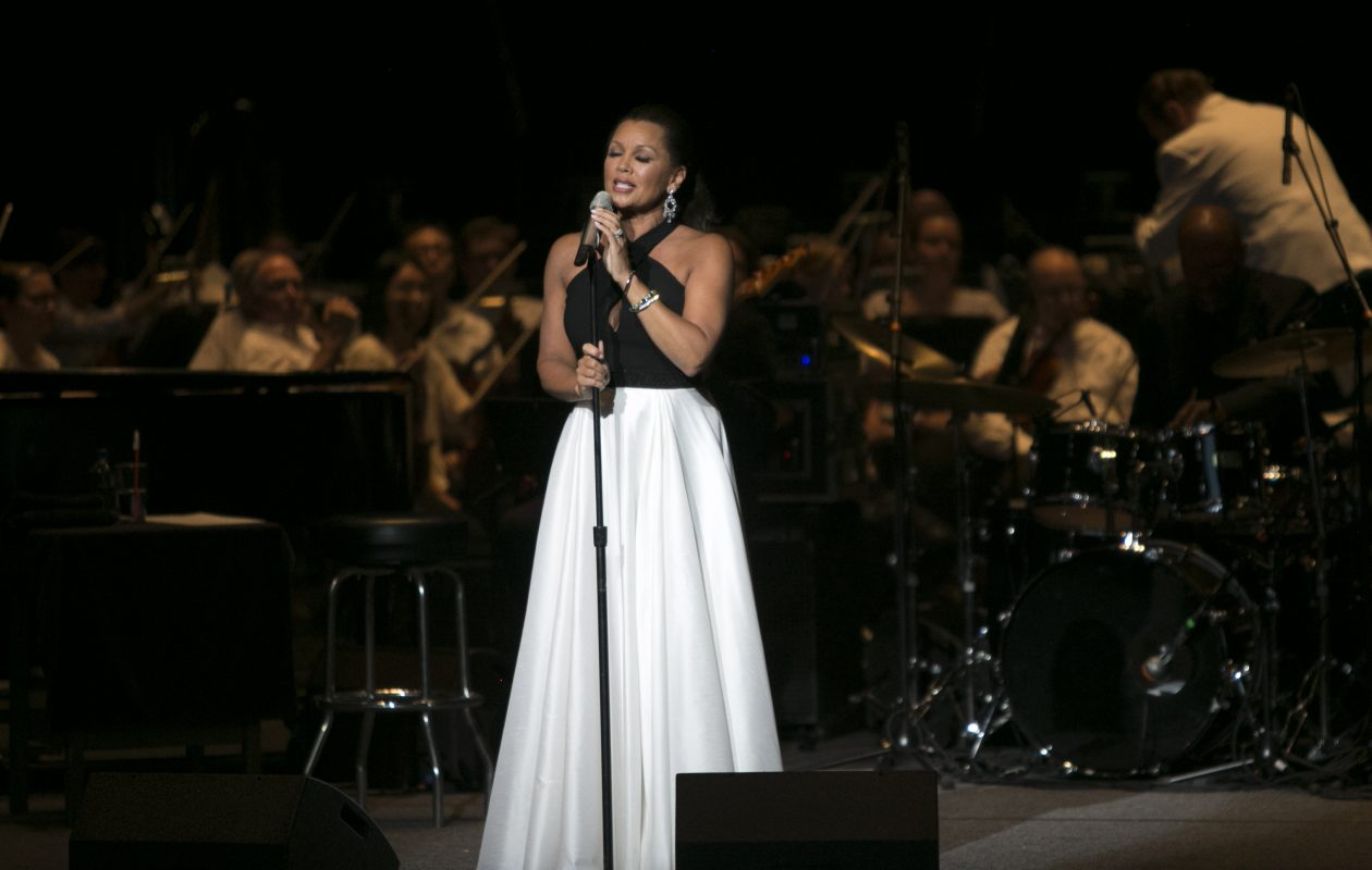 Singer and actress Vanessa Williams performed with  the Buffalo Philharmonic Orchestra at Artpark State Park. (Shuran Huang/Buffalo News)