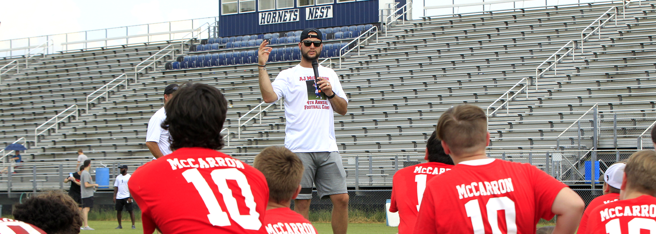 AJ McCarron at his annual football camp. (Harry Scull Jr./Buffalo News)