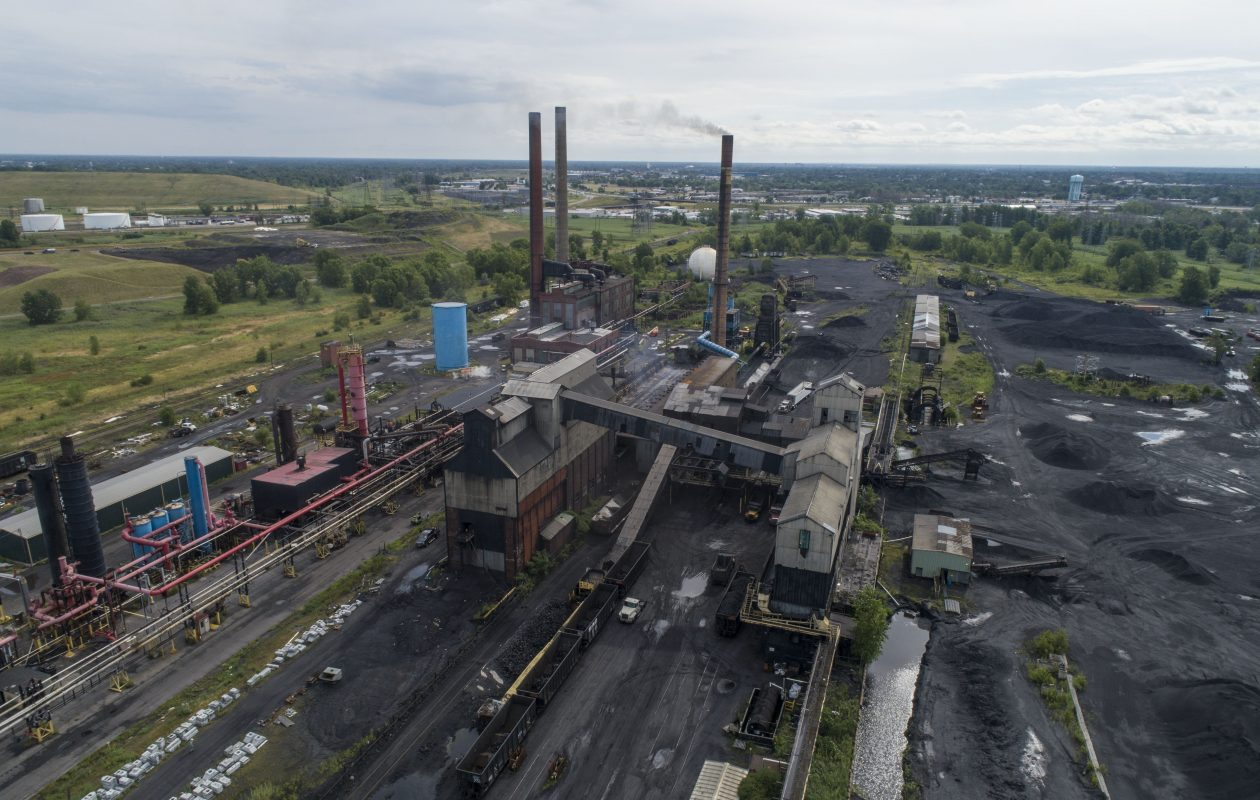 An aerial view of Tonawanda Coke. (Derek Gee/News file photo)