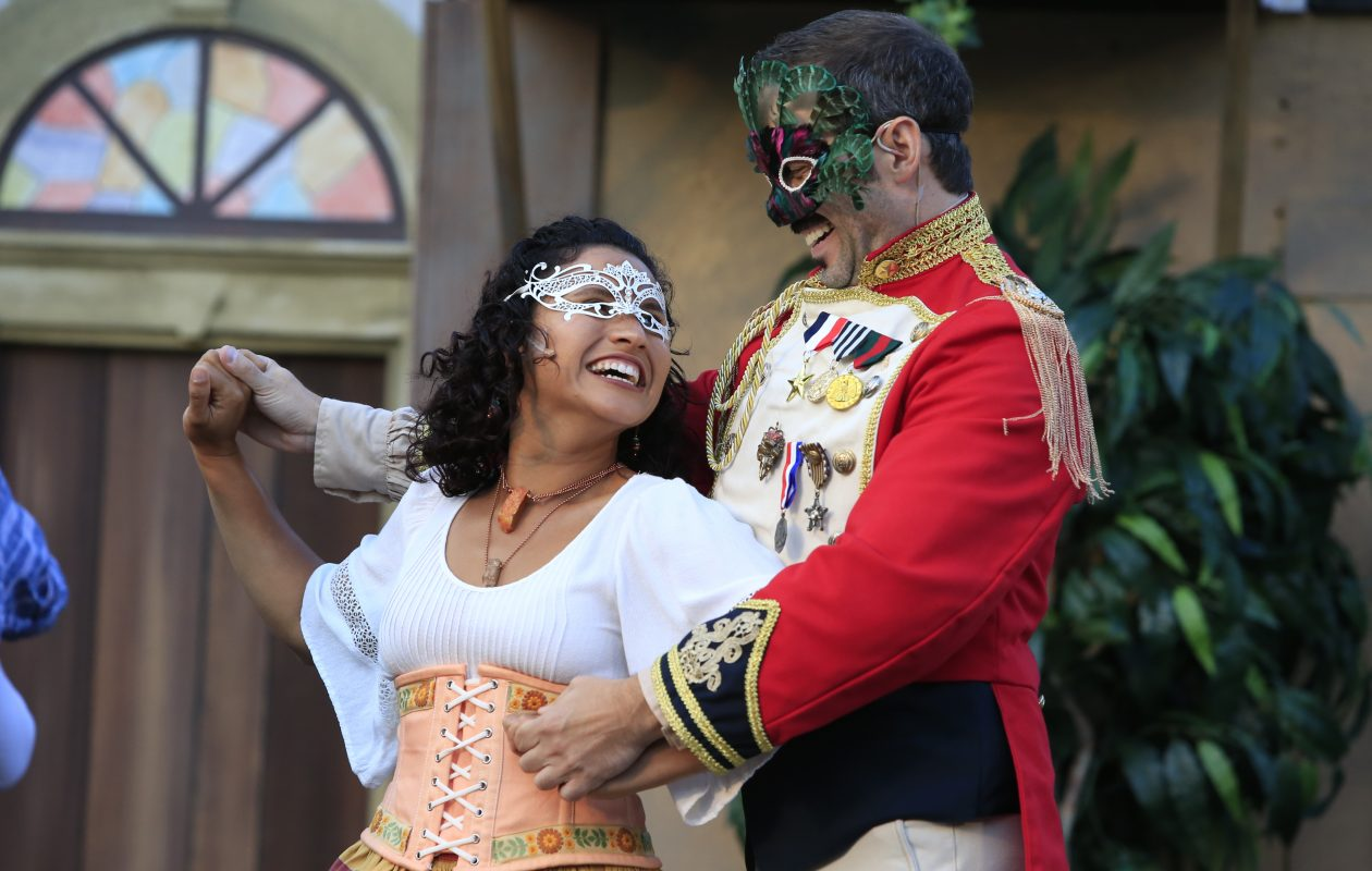 The cast of standouts in Shakespeare at Delaware Park's 'Much Ado About Nothing' include Melinda Capeles as Hero and Christopher Hatch as Don Pedro. (Harry Scull Jr./Buffalo News)