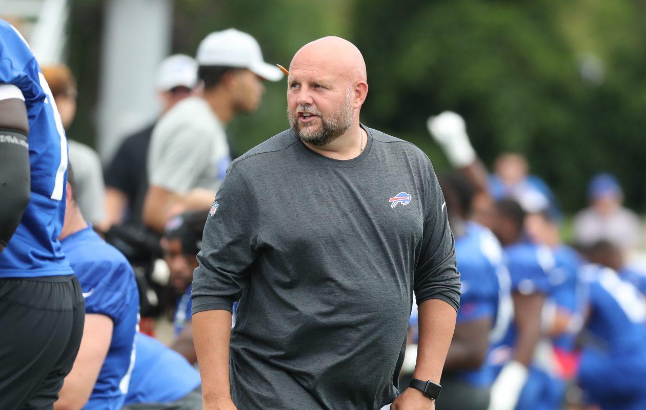 Buffalo Bills offensive coordinator Brian Daboll. (James P. McCoy/Buffalo News)