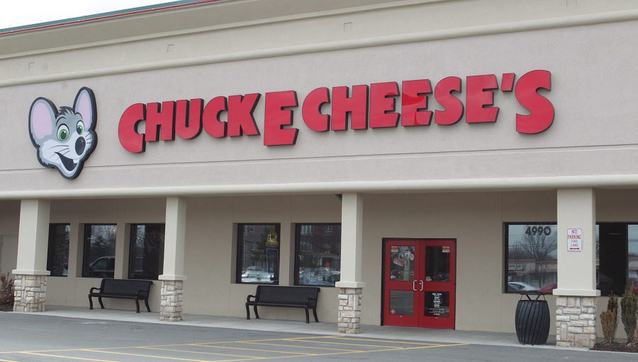Chuck E. Cheese's location on Harlem Road in Amherst.   (Sharon Cantillon/News file photo)