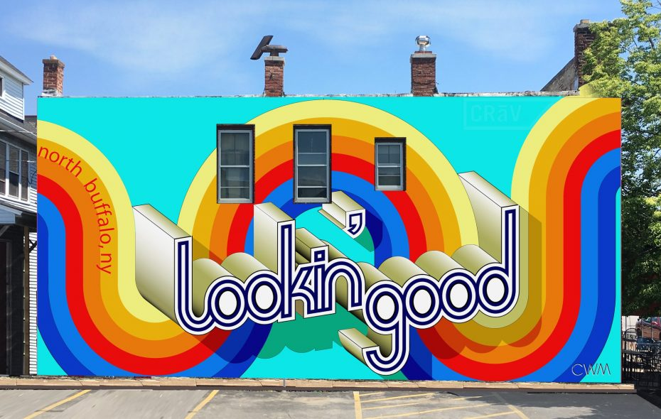 A new mural by Casey William Milbrand is planned for the side of CRāVing Restaurant on Hertel Avenue.