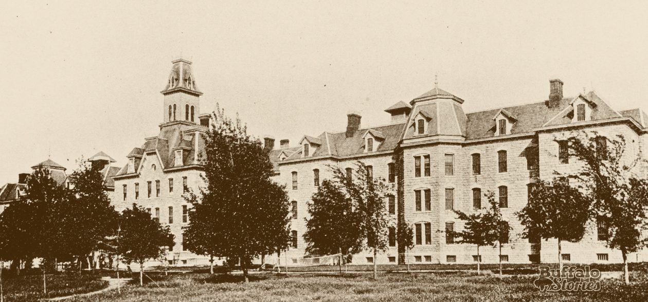 The Erie County Almshouse. (UB archives)