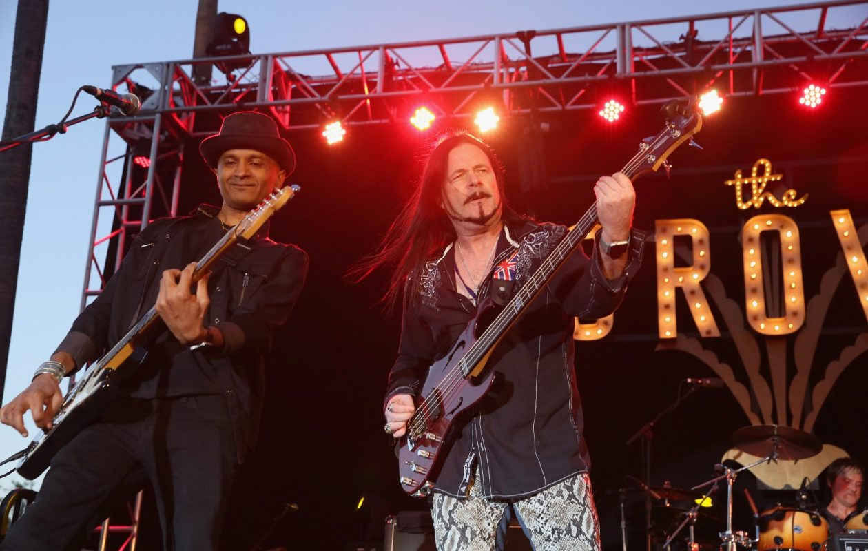 Guitarist Moni Scaria, left, and singer/bassist John Payne will be on stage when Asia featuring John Payne performs at Batavia Downs. (Getty Images)