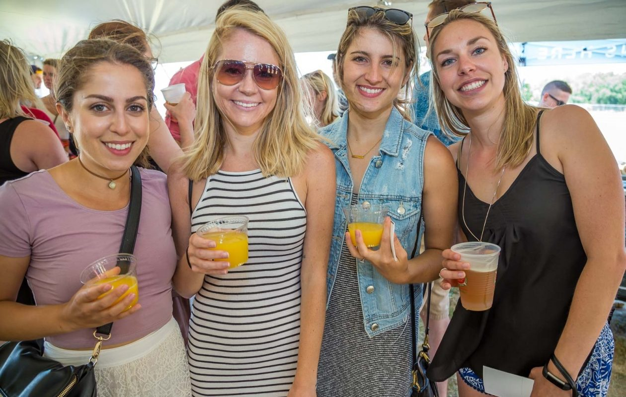 Smiling faces at the Buffalo Brunch Festival from 2017 at the Outer Harbor. (Don Nieman/Special to The News)