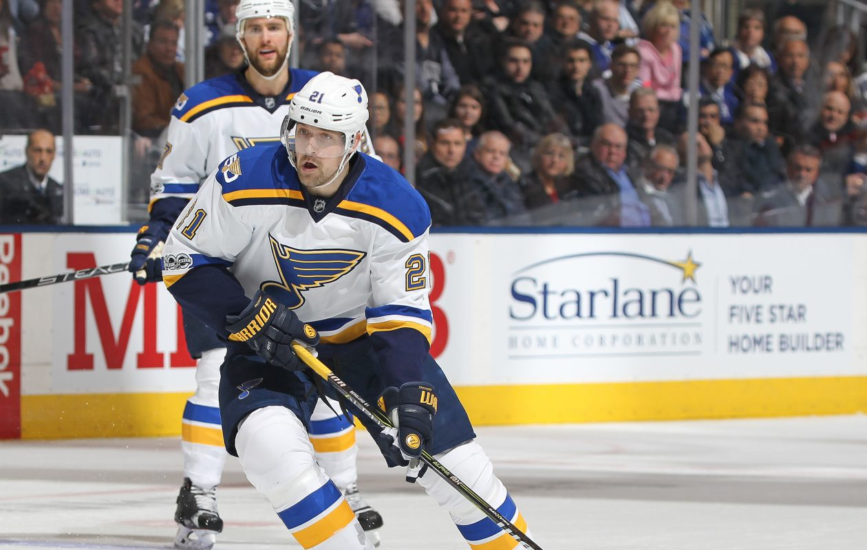 Patrik Berglund of the St. Louis Blues is now part of the Sabres. (Getty Images)