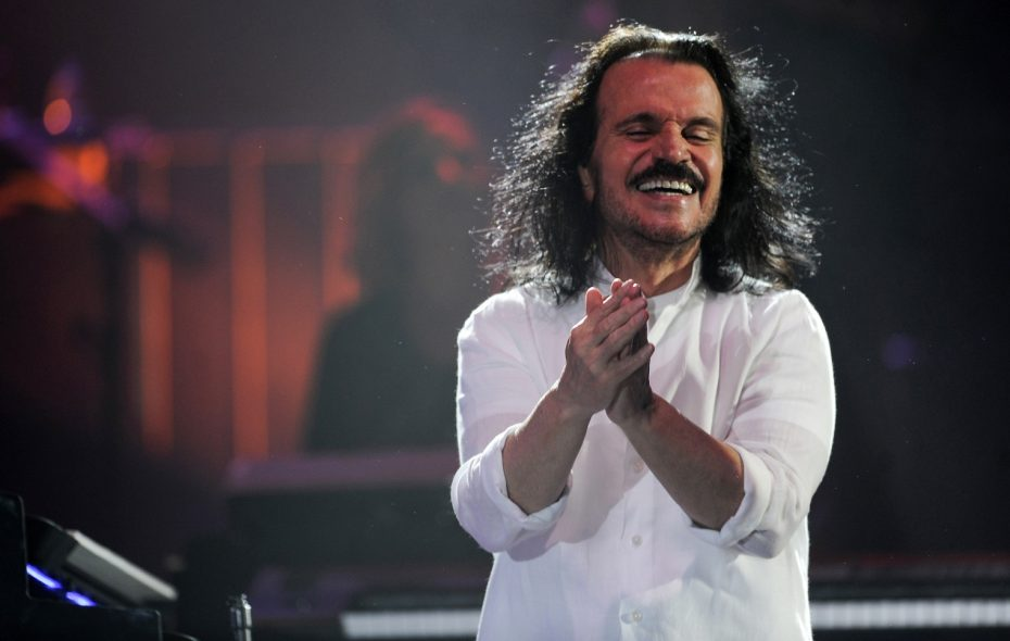 Yanni, pictured performing near the Red Sea in 2017, mixed soothing and spirited in his Shea's show. (Amer Hilabi/Getty Images)