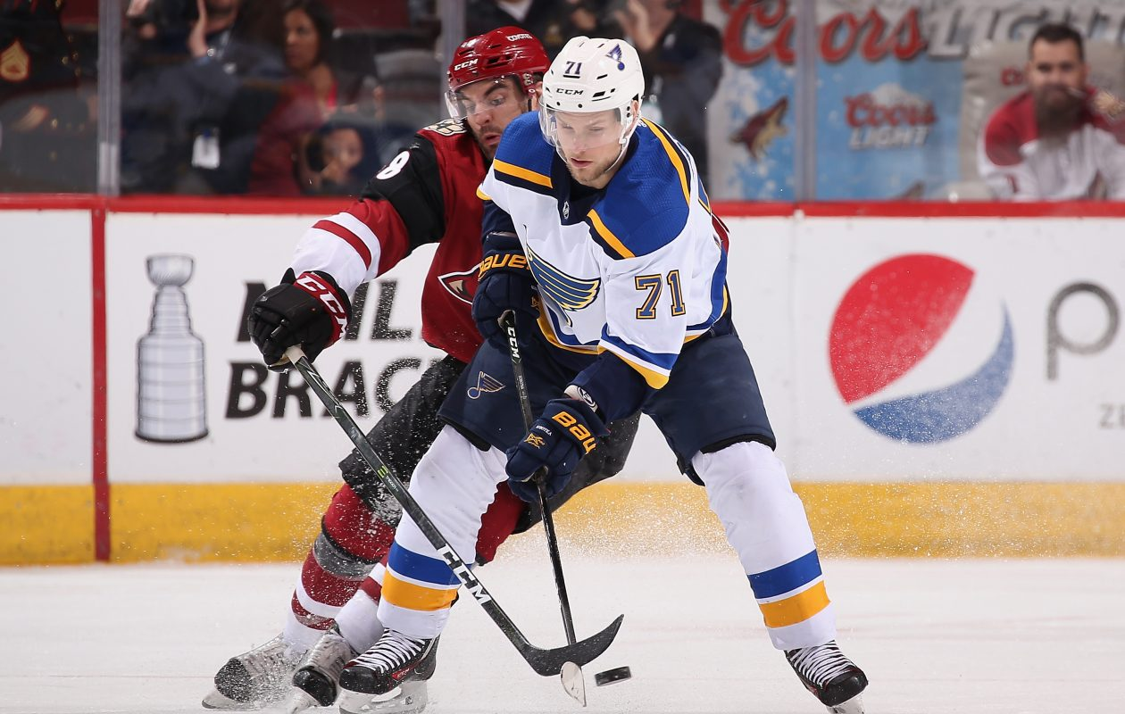 Vladimir Sobotka of St. Louis is joining the Sabres. (Getty Images)