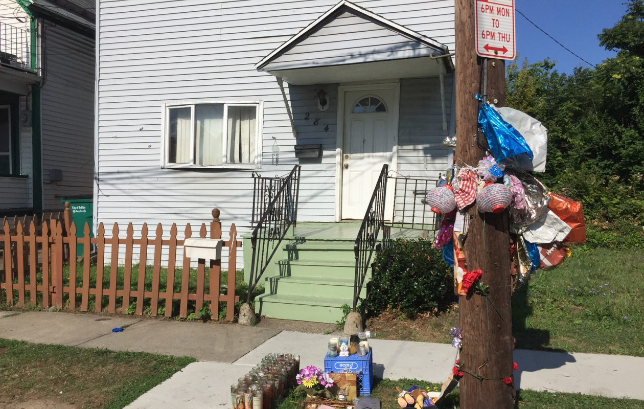 This home on Grape Street has been the target of several shootings this month. (Maki Becker/Buffalo News)