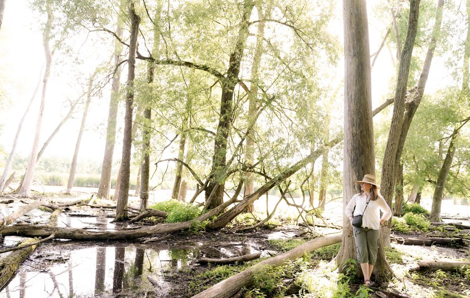 Jennifer Fendya, who's certified in forest therapy, leads local walks on a regular basis. (Dave Jarosz)