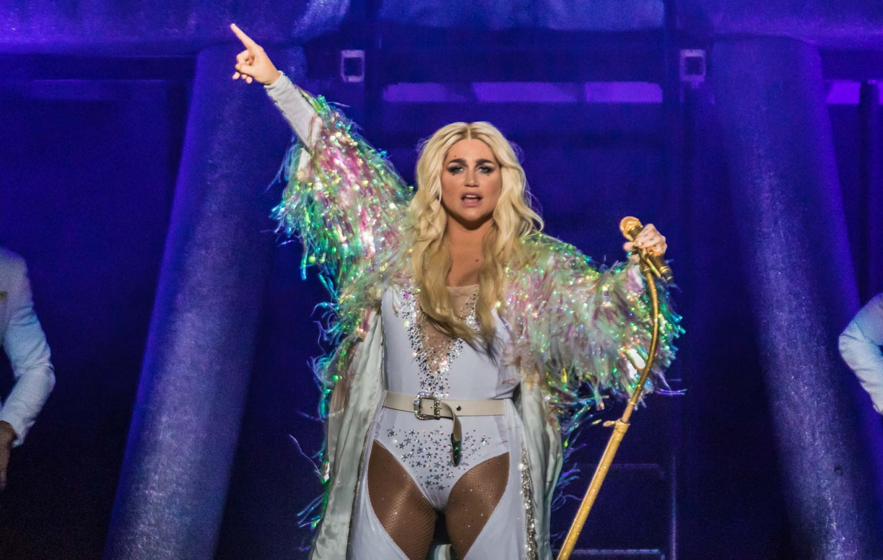 Kesha put on a memorable performance as her part of 'The Adventures of Kesha and Mackelmore' tour that landed at the Darien Lake Amphitheare on July 22. (Photo by Don Nieman/Special to The News)