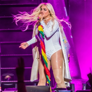 Pop artists Kesha and Macklemore performed on a double-bill on Sunday, July 22, 2018, at Darien Lake Amphitheatre. See both performers in action, including Kesha's spaceship.