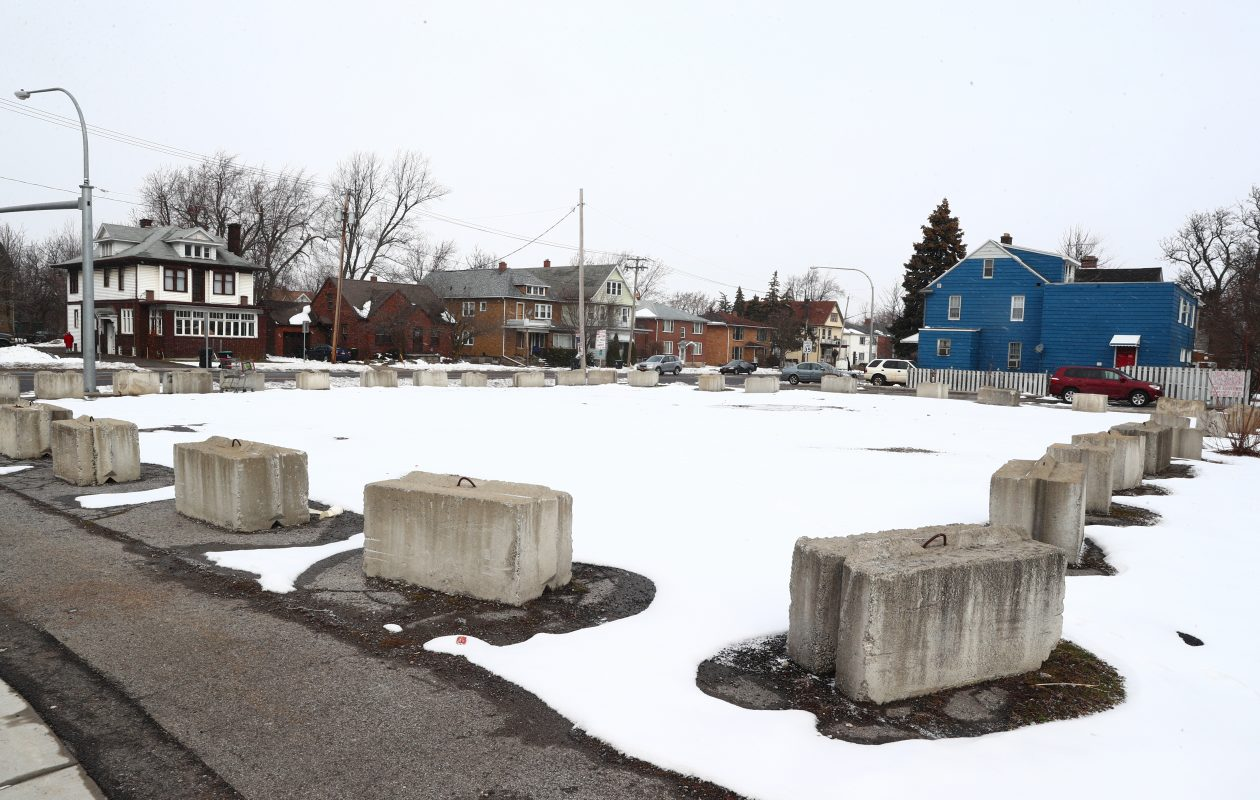 A former gas station on Niagara Falls Boulevard in Eggertsville is one of five zombie properties owned by United Refining, which accuses the Town of Amherst of being unsupportive of the company's plans to clean up the site. (John Hickey/News file photo)