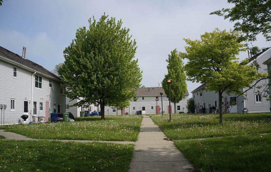 Langfield Homes, operated by BMHA. (Derek Gee/Buffalo News)