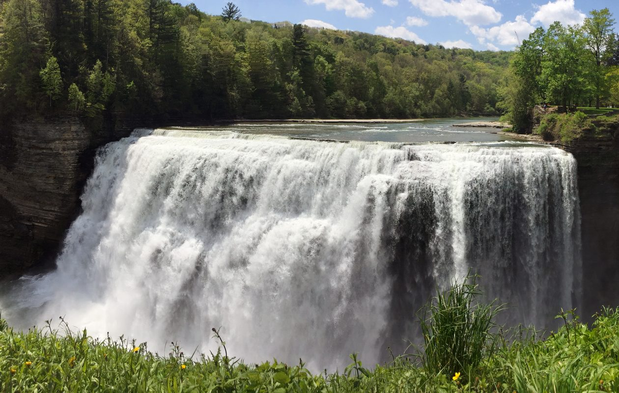 Just an hour and 20 minutes from Buffalo, Letchworth State Park is home to several waterfalls. (Jessica Kelly)