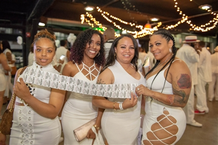 Local promoter Mrdwilson, known formally as Dennis Wilson Jr., hosted his annual event Miami Nights All-White Affair on Saturday, July 14, 2018, in Buffalo RiverWorks. The fashion-music hybrid event encouraged all attendees to wear white.