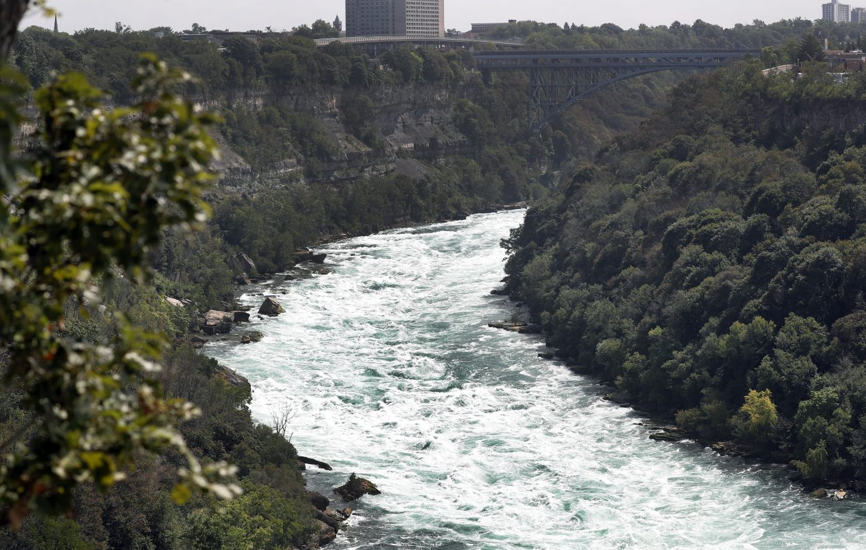 Water rushes down the Niagara Gorge to Whirlpool State Park in Niagara Falls in this file photo. (Mark Mulville/Buffalo News)