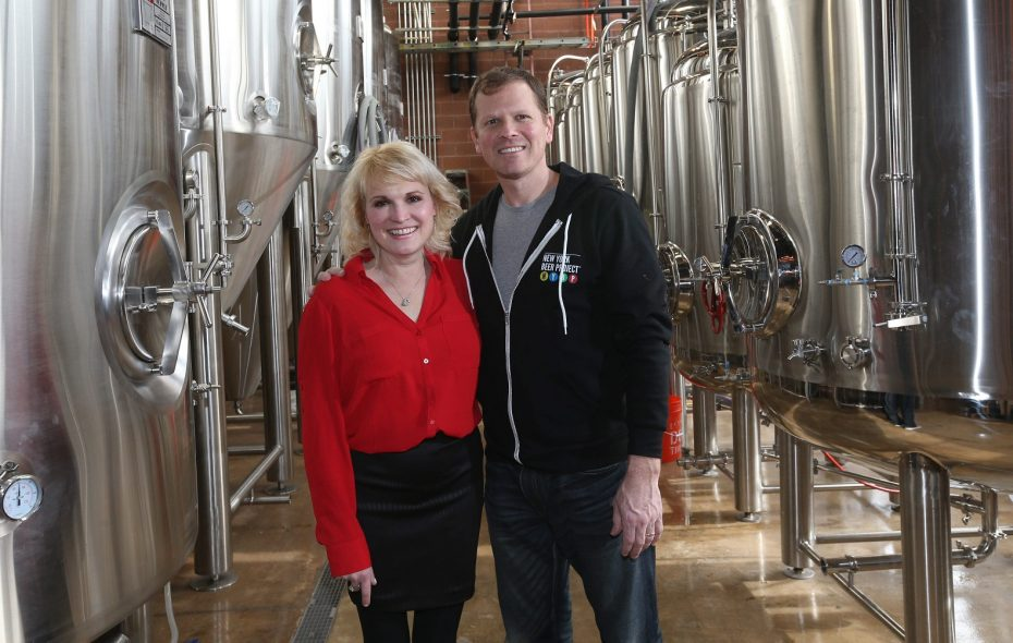 New York Beer Project owners Kelly and Kevin Krupski, pictured in 2016 at NYBP's Lockport opening, have announced expansion plans. (Sharon Cantillon/News file photo)